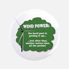 "Wind Power Humor 3.5"" Button"