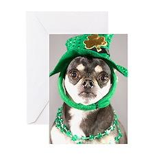 St. Patricks Day Dog Greeting Cards
