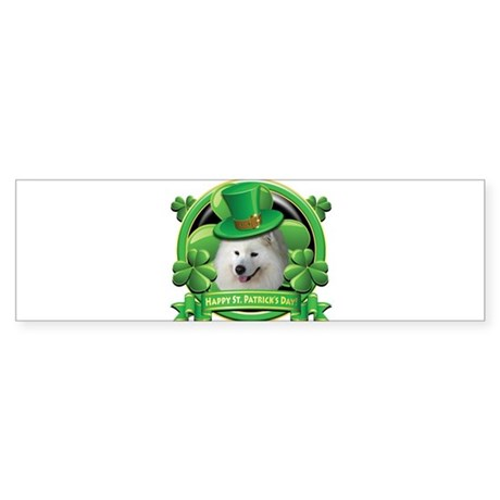 Happy St. Patrick's Day Samoy Sticker (Bumper)
