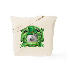 Happy St. Patrick's Day Samoy Tote Bag