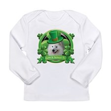 Happy St. Patrick's Day Samoy Long Sleeve Infant T