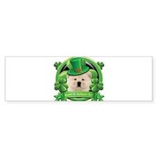 Happy St. Patrick's Day Chow Bumper Sticker