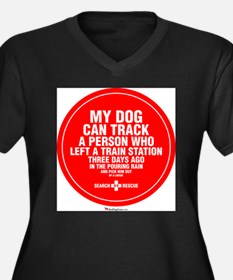 Cute Search dog Women's Plus Size V-Neck Dark T-Shirt