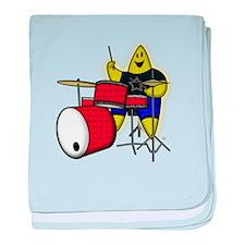 Drummer Rock A Bye Star baby blanket