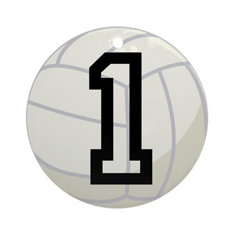 Volleyball Player Number 1 Ornament (Round)