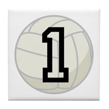 Volleyball Player Number 1 Tile Coaster