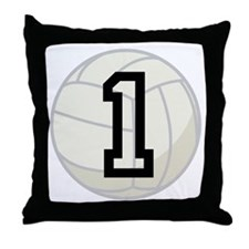 Volleyball Player Number 1 Throw Pillow