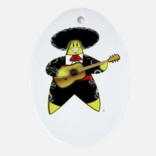 Mariachi Rock A Bye Star Ornament (Oval)