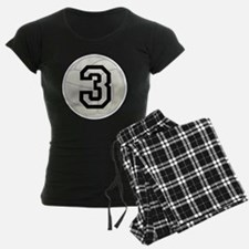 Volleyball Player Number 3 Pajamas
