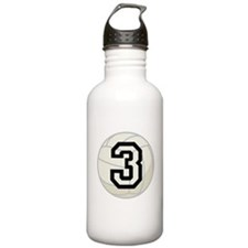Volleyball Player Number 3 Water Bottle