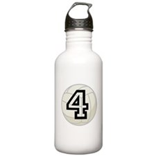 Volleyball Player Number 4 Water Bottle