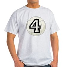 Volleyball Player Number 4 T-Shirt