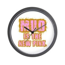 Mud, the new pink Wall Clock