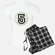 Volleyball Player Number 5 Pajamas