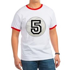 Volleyball Player Number 5 T