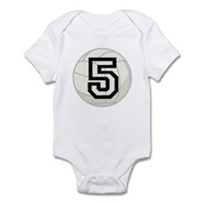 Volleyball Player Number 5 Infant Bodysuit