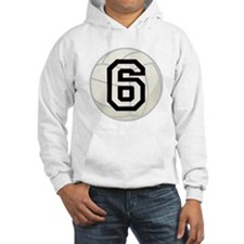 Volleyball Player Number 6 Hoodie