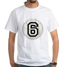Volleyball Player Number 6 Shirt