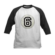 Volleyball Player Number 6 Tee