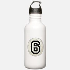 Volleyball Player Number 6 Water Bottle
