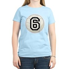 Volleyball Player Number 6 T-Shirt