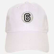 Volleyball Player Number 6 Baseball Baseball Cap