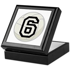 Volleyball Player Number 6 Keepsake Box