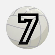 Volleyball Player Number 7 Ornament (Round)