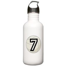 Volleyball Player Number 7 Water Bottle