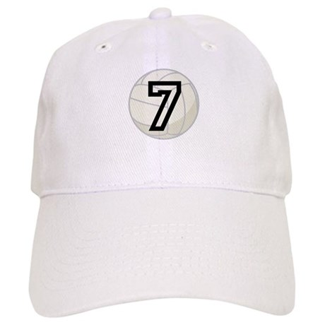 Volleyball Player Number 7 Cap