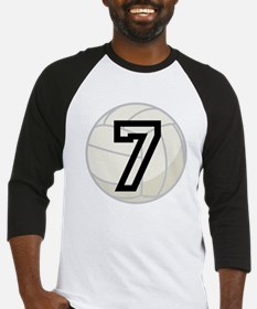 Volleyball Player Number 7 Baseball Jersey