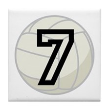 Volleyball Player Number 7 Tile Coaster