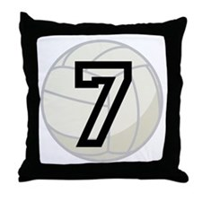 Volleyball Player Number 7 Throw Pillow