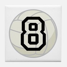 Volleyball Player Number 8 Tile Coaster