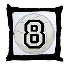 Volleyball Player Number 8 Throw Pillow