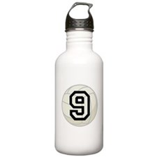 Volleyball Player Number 9 Water Bottle