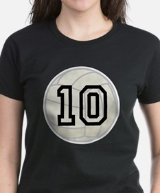 Volleyball Player Number 10 Tee