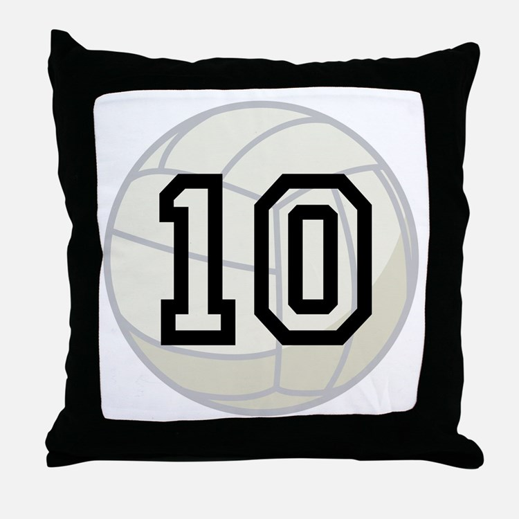 Volleyball Player Number 10 Throw Pillow