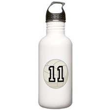 Volleyball Player Number 11 Water Bottle