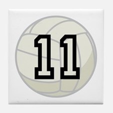 Volleyball Player Number 11 Tile Coaster
