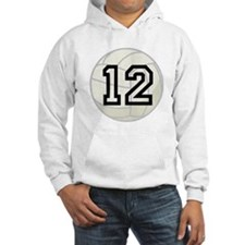 Volleyball Player Number 12 Hoodie Sweatshirt