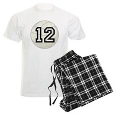 Volleyball Player Number 12 Pajamas