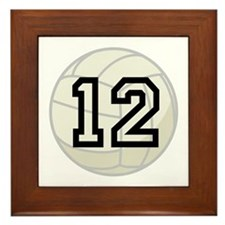 Volleyball Player Number 12 Framed Tile