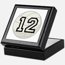 Volleyball Player Number 12 Keepsake Box