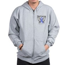 Believe - Esophageal Cancer Zip Hoodie