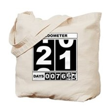 21st Birthday Oldometer Tote Bag