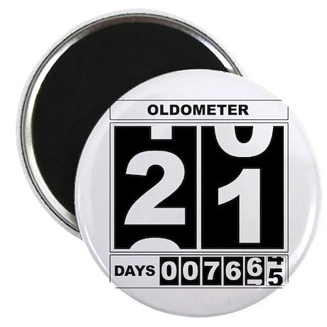 21st Birthday Oldometer Magnet