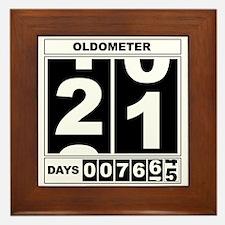 21st Birthday Oldometer Framed Tile