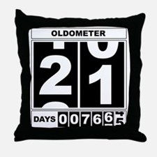 21st Birthday Oldometer Throw Pillow