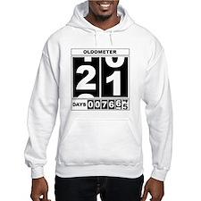 21st Birthday Oldometer Hoodie